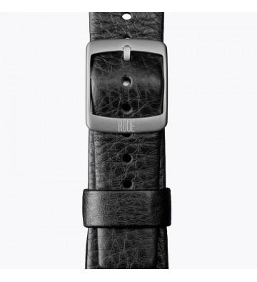 Černý kožený pásek